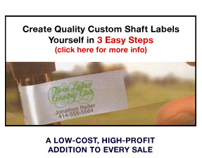 Greenbriar Golf Custom Printable Inkjet Golf Club Labels